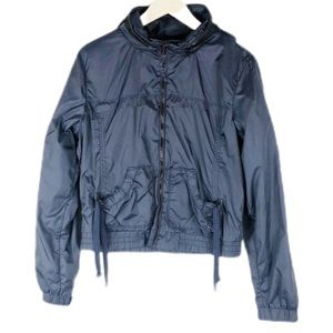 American Eagle Outfitters Navy Hooded Wind Breaker